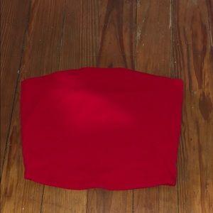 Garage Red Tube Top
